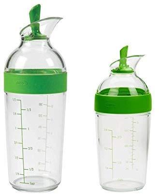 OXO Good Grips Salad Dressing Shaker Combo Pack, Green (12 oz bottle and 8 oz bottle)