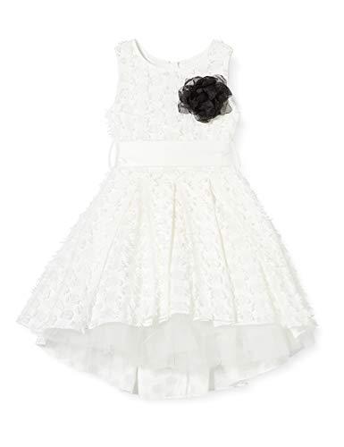 Mek Abito Pois Effetto Jacquard Vestito, Bianco (off White 01 900), 152 (Taglia Unica: 12A) Bambina