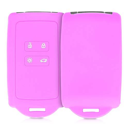 kwmobile Cover copri-chiave compatibile con Renault con 4 tasti Smart Key (solo Keyless Go) - Protezione in silicone - Guscio protettivo - Custodia chiavi auto