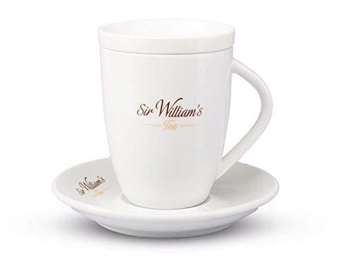 SIR WILLIAM'S Porzellan Teeservice - elegantes Set: Teebecher / Untertasse / Deckel - Geschenkset