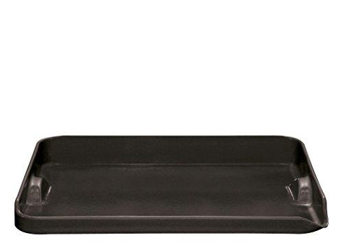 Emile Henry Eh797546 Plancha Barbecue Céramique Noir Fusain 39 X 31 X 5,5 cm