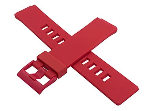 Cinturino per orologio Casio originale LDF-10-4A LDF 10 rosso 10243167