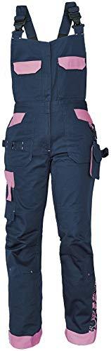 DINOZAVR Yowie Damen Latzhose - Stretch Multi Taschen Moderne Arbeitshose - Dunkelblau/Violett 42