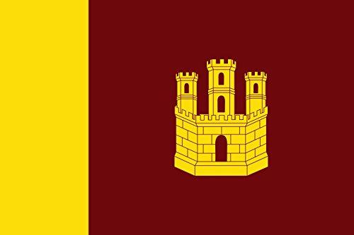magFlags Bandera Large Municipio de Castillo de Garcimuñoz Castilla-La Mancha | Bandera Paisaje | 1.35m² | 90x150cm