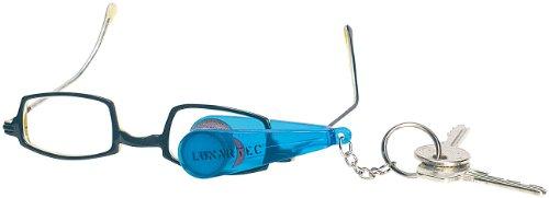 PEARL Brillenreiniger: Brillen-Putz-Zange mit Mikrofaser-Tüchern im Schlüsselanhänger-Format (Brillenputzer)