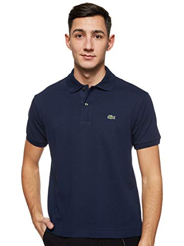 Lacoste Men's Short Sleeve L.12.12 Pique Polo Shirt, Navy Blue, XS -  Lacoste Mens Apparel