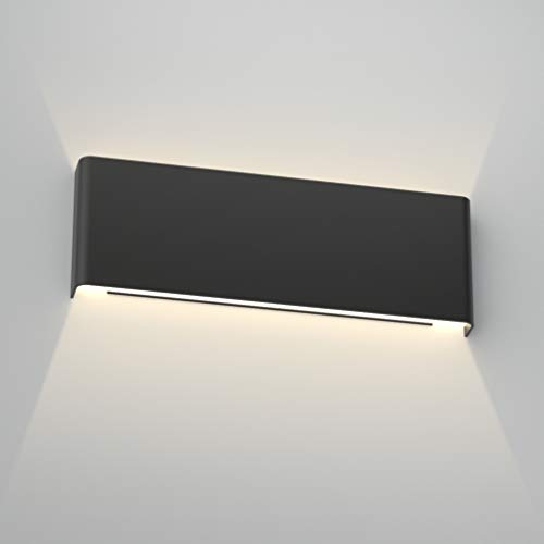 Aipsun 15.8in Modern Black Vanity Light Up and Down LED Vanity Light for Bathroom Wall Lighting...