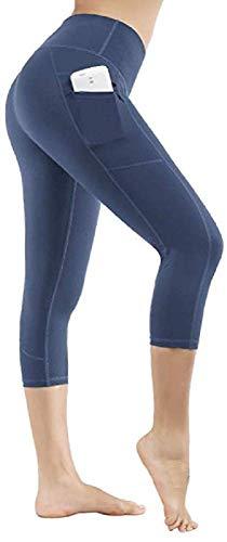 Ducomi Ivy Sportlegging voor dames, hoge taille met zakken – fitnessbroek, push-up, slankheidseffect voor training, gymnastiek, yoga en vrije tijd