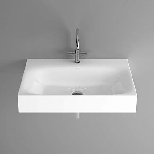 Bette Lux wastafel voor wandmontage zonder kraangat, A167 800 x 495 mm, Kleur: Wit met BetteGlaze Plus - A167-000PW