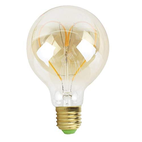 Mobestech Lampadina a Led a Forma di Cuore Lampadine Edison Lampadine 4W G95 per Arredo Casa Ristorante Dorato