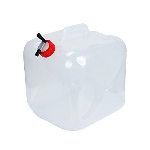 Donnagelia 20L Bidon d'eau Réservoir d'eau Portable Pliable PVC Grande Capacité pour Camping Randonnée Pique-Nique Extérieurs Survie d'Urgences