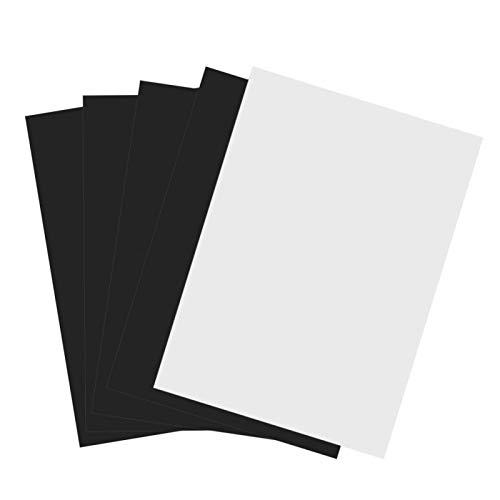 LANTRO JS - Papel fotográfico magnético A4 Hoja de impresión de inyección de tinta magnética flexible Papel fotográfico imprimible 5 piezas