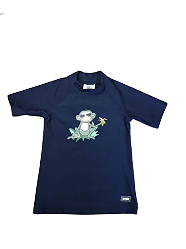 Banz Short Sleeve UV Rash S19rsnj8 Chemise, Navy Jungle, 7-8 Years Bébé garçon