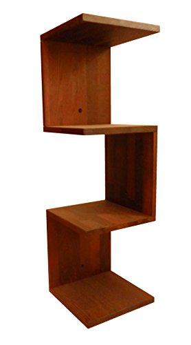 Stabiles Eckregal aus Massivholz Robinie, Zickzackregal, 26x26x86cm, Dekorativ, praktisch, Gut,...