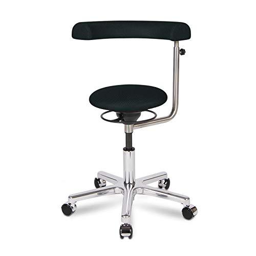 BALIMO OFFICE, Bürohocker, Sitzhocker, ergonomischer Rücken-Trainer, Bezug schwarz