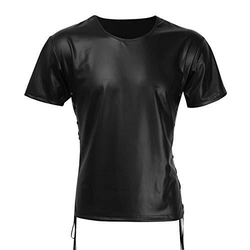 Heren Tank Top T Shirt Wetlook Zwart Festival Heren Mode Heren Shirt Onderhemd Muscle Shirt Nacht Warme Sheaves Tops