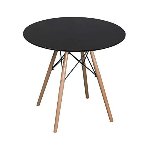 ASPECT COMO ROUND DINING TABLE Black 80 dia x 73(H) cm