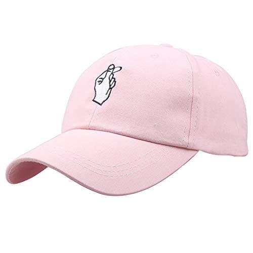 Honkbalpet cap pet unisex embroider baseballcap bewegingen vinger snapback hoed vrouwen mannen mode golf casual hoed
