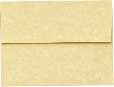 A7 Invitation Envelopes (5 1/4 x 7 1/4) - Gold Parchment (50 Qty) | Perfect for Invitations, Announcements, Sending Cards, 5x7 Photos | Printable | 80lb Paper | 6680-14-50