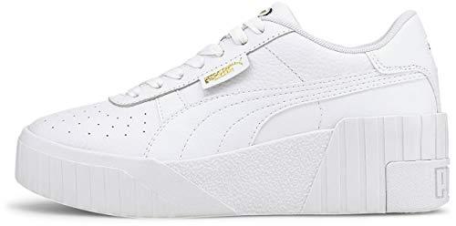Puma - Womens Cali Wedge Shoes, Size: 9 B(M) US, Color: Puma White/Puma White