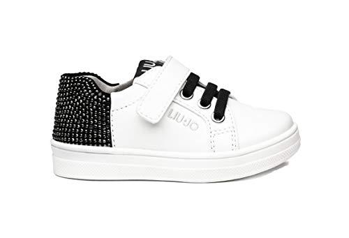 Sneakers da Bimba Liu Jo in Pelle Milk Modello 4F0303EX014-Mini Alicia 501 con Stringhe. Una Calzatura Comoda per Un Look Sempre impeccabile. Collezione Autunno Inverno 2021. EU 25