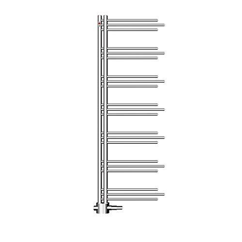 MERT Design Badheizkörper NEZIFE chrom, 500 * 1750 mm, rechts/linksbündig