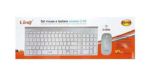 Linq Combo Tastiera + Mouse Wireless Wireless 2.4G Interfaccia USB con Lettera Ñ PC Mac