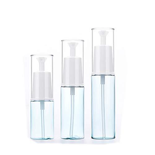 Ssowun 3 Pièces Flacon Vaporisateur Superfine 25ml/35ml/45ml, Bouteille Portable Bouteille de Voyage Atomiseur en Plastique Réutilisables pour Parfum Cosmétique Liquide