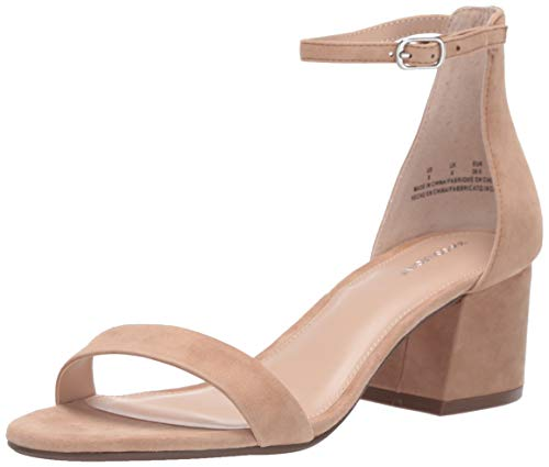 Amazon Brand - 206 Collective Women's Nolita Heeled Sandal, Tan, 9 B US