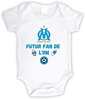 Body bébé personnalisé futur fan de l'OM,body manche courte