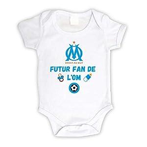 Body bébé personnalisé futur fan de l'OM,body manche courte 1