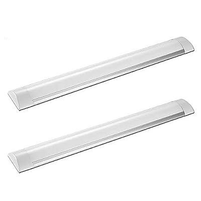 Flushmount Linear LED Ceiling Light, 20W 2 Foot LED Tube Light Fixture, LED Strip Light for Under Cabinet Light, Ceiling Light, and Shop Light (not Plug)