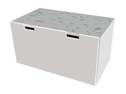Mondlandschaft Möbelfolie | BTD02 | Möbelaufkleber mit Straßen-Motiv | passend für die Kinderzimmer Banktruhe STUVA von IKEA (90 x 50 cm) | Möbel Nicht Inklusive | STIKKIPIX