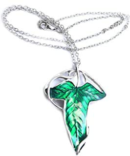 best presents LOTR Lord of The Rings Hobbit Frodo Aragon Necklace Pendant Elven Leaf Brooch Necklace Pendant