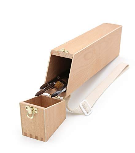Pincel Caja, soporte para pinceles, Pincel Buzón, madera maletín de utensilios para pincel de artista,