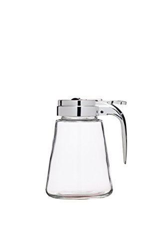 Kitchen Craft – Jarra de cristal para sirope/dispensador de miel antigoteo,