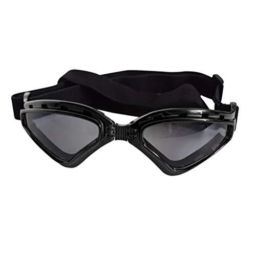 POPETPOP Hund Brille Sonnenbrille Haustierkostüm Brille Wasserdichte Winddicht Cosplay Kostüm für Hunde Katzen Haustier (Schwarz)