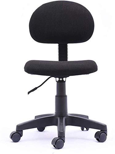 Silla giratoria para videojuegos, silla de oficina, silla de ordenador, altura ajustable, soporte lumbar elástico, presión de espalda, ajuste de altura – 55971A4J9W (color negro).