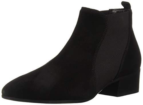 Aquatalia Women's Falco Chelsea Boot, Black Suede, 8 M US