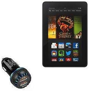 Carregador de carro Kindle Fire HDX 7 (3ª geração 2013), BoxWave [Carregador duplo QC3.0] Carregador duplo para carregamen...