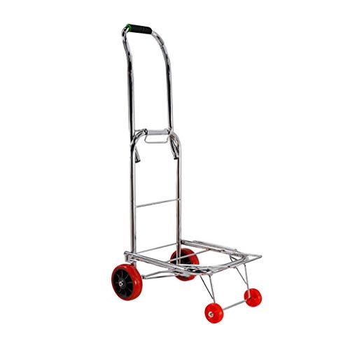 Tuyau dacier Pliant Le Chariot /à Caddie Chariot de magasinage d/épicerie de Panier de roulement de 17CM Petit Chariot Large Plat /à achats Color : A