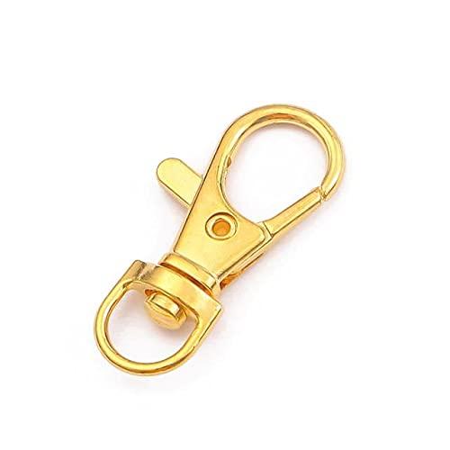 YANME 5-20 Unids/Lote 13X34 Mm Bronce Anillo de Oro Broche Cadena de Gancho para Llavero para Bolsa Cinturón Hacer Hallazgos Suministros