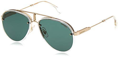 Carrera Glory Gafas, Gold Crystal/Green, 58 Unisex Adulto