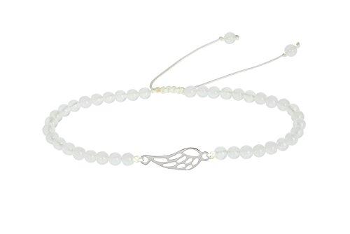 HCA Echtsteinarmband mit Symbol - Engelsflügel - Quarzit