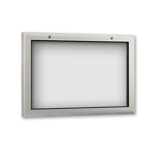 Schaar Design Vitrine F. D. extérieur, 800 x 43 x 540 mm, format A2, aluminium Profile, verre acrylique, dos avec 10 Aimants Blanc + 1 poche