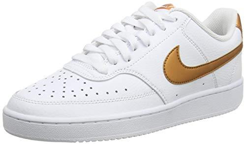 Nike Court Vision Low, Zapatillas para Mujer, Cobre metálico Blanco, 44 EU