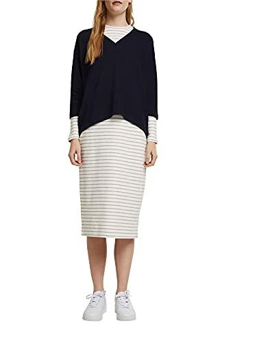 ESPRIT 2in1: Pullover und Midikleid mit Organic Cotton