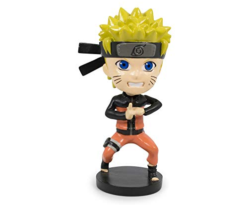 JUST FUNKY Naruto Shippuden Collectible PVC Plastic Bobblehead | Action Figure Statue, Desk Toy Accessories | Anime Gifts for Home Office Decor | 4.75 Inches Tall
