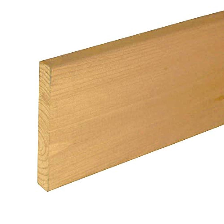 屋内困難見つけるDIY素材 国産杉(新材) 厚15×幅120×長さ420mm 屋外用塗装仕上げ NL(ナチュラル)色