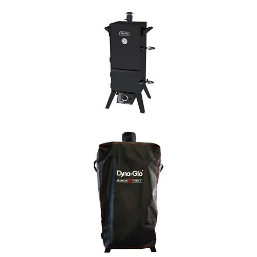 Cheap Dyna-Glo DGY784BDP 36 Vertical LP Gas Smoker and premium smoker cover